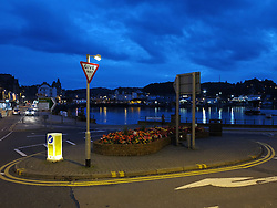 UK SCOTLAND OBAN 6OCT13 - Traffic roundabout in the town and fishing port of Oban, Argyll, Scotland.<br /> <br /> jre/Photo by Jiri Rezac<br /> <br /> &copy; Jiri Rezac 2013