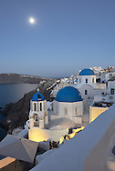 Churches at Oia,Santorini, Kyclades,South Aegean, Greece,Europe