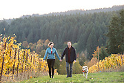 Scott & Annie Shull, BRilliant fall colors at Raptor Ridge, Willamette Valley, Oregon