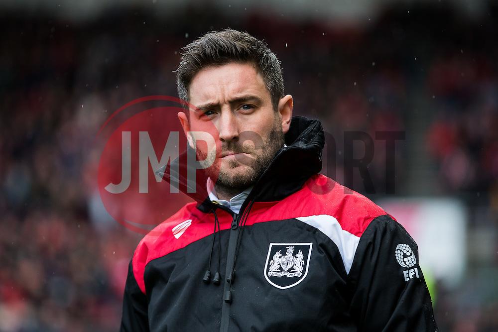 Bristol City manager Lee Johnson looks on - Rogan Thomson/JMP - 04/03/2017 - FOOTBALL - Ashton Gate - Bristol, England - Bristol City v Burton Albion - Sky Bet EFL Championship.