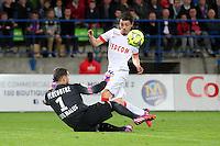 But Bernardo DE CARVALHO / Remy Vercoutre - 10.04.2015 - Caen / Monaco - 32e journee Ligue 1<br /> Photo : Vincent Michel / Icon Sport