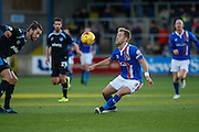 Carlisle United Defender Danny Grainger on the attack during the Sky Bet League 2 match between Carlisle United and Portsmouth at Brunton Park, Carlisle, England on 21 November 2015. Photo by Craig McAllister.
