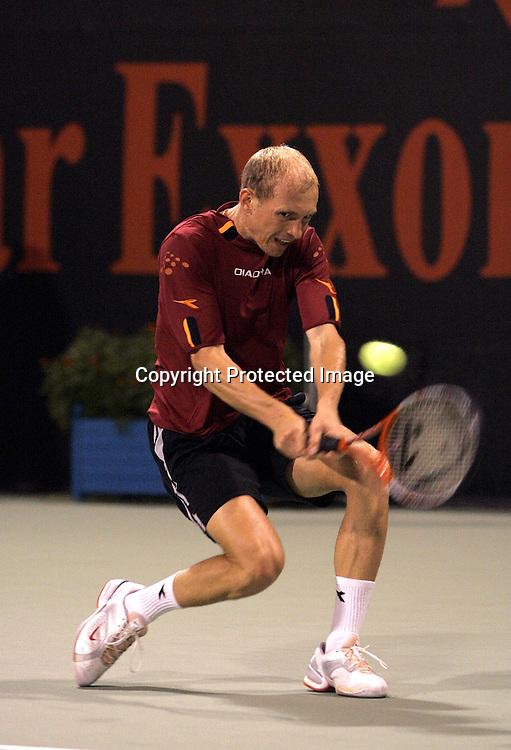 Qatar, Doha, ATP Tennis Turnier Qatar Open 2005, Nikolay Davydenko (RUS), 07.01.2005,<br />Foto: Juergen Hasenkopf