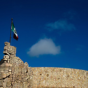 """Images of the city of Merida in the state of Yucatan in Mexico. """"Monumento a la patria"""" a landmark of Merida."""