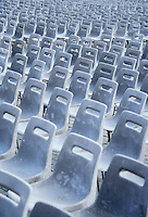 Rows and rows of chairs in Vatican Square St Peters Square Berninis Square Piazza St Pietro Vatican City Rome Italy