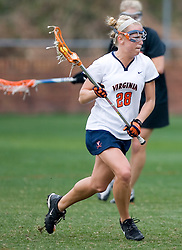 Virginia Cavaliers A Megan O'Malley (28) in action against Princeton.  The Virginia Cavaliers women's lacrosse team defeated the Princeton Tigers 9-7 at Klockner Stadium in Charlottesville, VA on March 24, 2007.
