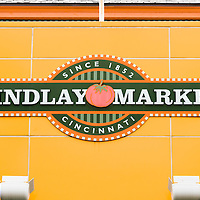 Photo of Findlay Market sign in Cincinnati Ohio. Findlay Market is an indoor and outdoor public market with a wide variety of vendors of food, crafts and entertainment. Findlay Market was founded in 1852 and is listed on the National Register of Historic Places.