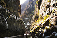 Road through Bicaz Gorge, Romania