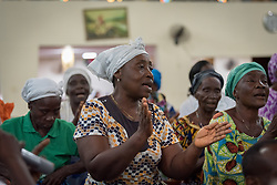 31 October 2019, Monrovia, Liberia: Traditional choir sings as the Lutheran World Federation launches an SDG mapping for Liberia in Saint Peter Lutheran Church. The event takes place during the annual global meeting of the Waking the Giant initiative of the Lutheran World Federation.