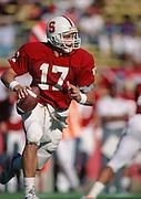 COLLEGE FOOTBALL: Stanford v UW, Oct 20, 1990 at Stanford Stadium in Palo Alto, California. John Lynch #17.  Photograph by David Madison (www.davidmadison.com)