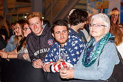 February 28, 2019 - U.S. - LAS VEGAS, NV - MARCH 01: New Zealand fans at the all nations parade the evening before the USA Rugby Sevens held March 1-3, 2019 at Sam Boyd Stadium in Las Vegas, NV. (Photo by Allan Hamilton/Icon Sportswire) (Credit Image: © Allan Hamilton/Icon SMI via ZUMA Press)