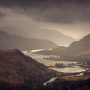 Loch Lomond from Troisgeach Bheag, the Trossachs, Scotland.