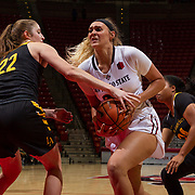 03 November 2017:  The San Diego State women's basketball team opens up the season with an exhibition game against Cal State Los Angeles. The Aztecs beat the Golden Eagles 71-50 at  Viejas Arena. www.sdsuaztecphotos.com