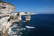 Bonifacio's chalky limestone cliffs.