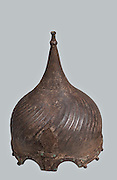 Ottoman steel Helmet 16th Century CE two cusped for the eyes 31 cm high
