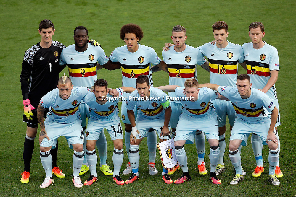TOULOUSE, FRANCE - JUNE 26 :  team of Belgium d