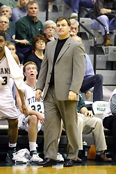 16 December 2006: 1st year Titan head coach Ron Rose. The University of Chicago Maroons upset  the Illinois Wesleyan Titans 64 - 60 at the Shirk Center in Bloomington Illinois.<br />