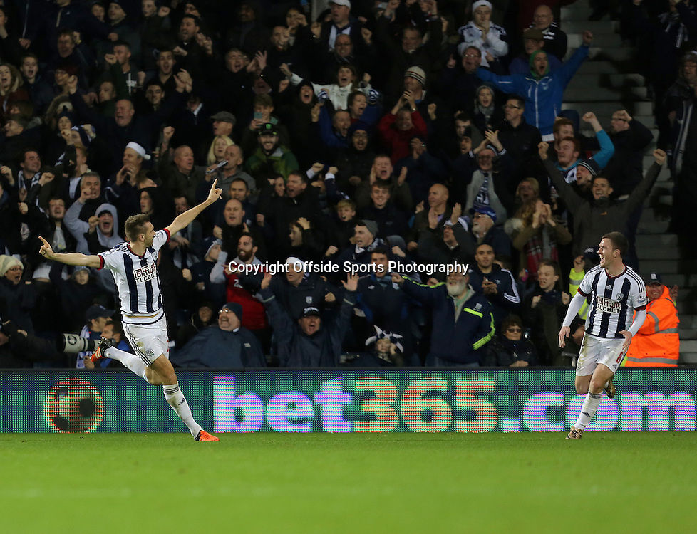 19th December 2015 - Barclays Premier League - West Bromwich Albion v AFC Bournemouth - Gareth McAuley of West Bromwich Albion celebrates after equalising (1-1) - Photo: Paul Roberts / Offside.
