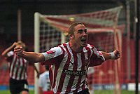 Photo: Tony Oudot.<br /> <br /> Brentford v Lincoln City. Coca Cola League 2. 27/10/2007.<br /> <br /> Sammy Moore of Brentford celebrates his winning goal
