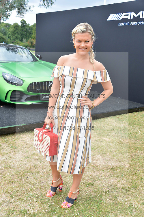 Olivia Perry at the Laureus King Power Cup polo match held at Ham Polo Club, Richmond, London England. 22 June 2017.<br /> Photo by Dominic O'Neill/SilverHub 0203 174 1069 sales@silverhubmedia.com