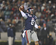 Ole Miss quarterback Jeremiah Masoli at Vaught-Hemingway Stadium on Saturday, November 27, 2010. Mississippi State won 31-23.