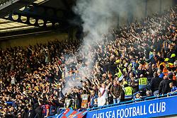 Crystal Palace fans let of some smoke - Mandatory by-line: Jason Brown/JMP - 01/04/2017 - FOOTBALL - Stamford Bridge - London, England - Chelsea v Crystal Palace - Premier League