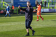 Forest Green Rovers assistant manager, Scott Lindsey applauds the fans at the end of the match during the EFL Sky Bet League 2 match between Forest Green Rovers and Macclesfield Town at the New Lawn, Forest Green, United Kingdom on 13 April 2019.
