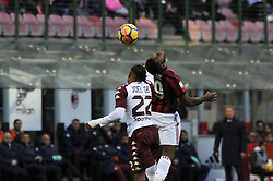 November 26, 2017 - Milan, Italy - Frank Kessie of AC Milan competes fot the ball with Joel Obi of Torino FC  during Italian serie A match AC Milan vs Torino FC at San Siro Stadium  (Credit Image: © Gaetano Piazzolla/Pacific Press via ZUMA Wire)