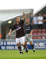 Photo: Marc Atkins.<br /> <br /> Northampton Town v Reading. Pre Season Friendly. 22/07/2006.Scott Mcgliesh celebrates after scoring for Northampton Town FC.