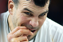 Competitive eaterDave Brunelli, aka Tiger Wings& Things, competes in Wing Bowl 26, at the Wells Fargo Center, in Philadelphia, PA, on February 2, 2018. The annual chicken wing eating contest is set two days before Super Bowl 52, where the Philadelphia Eagles will take on the New England Patriots.