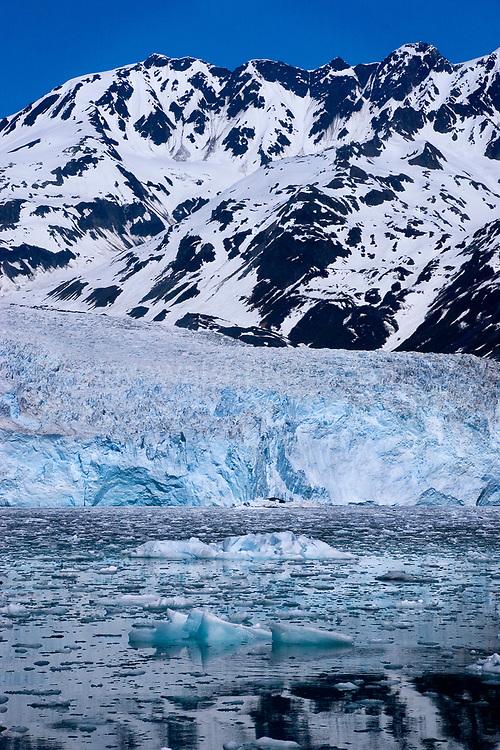 Aialik Glacier creeping into the sea at Aialik Bay, Kenai Fjords National Park, Alaska