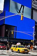 New York Times square , blue advertising bilboard  New york - United states  Manhattan