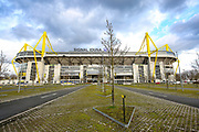General view outside of the Signal Iduna Park ahead of the Champions League round of 16, leg 2 of 2 match between Borussia Dortmund and Tottenham Hotspur at Signal Iduna Park, Dortmund, Germany on 5 March 2019.