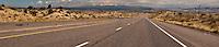Northwestern New Mexico US highway looking north toward Colorado panorama