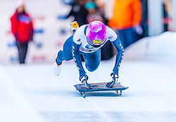 17.01.2020, Olympia Eiskanal, Innsbruck, AUT, BMW IBSF Weltcup Bob und Skeleton, Igls, Skeleton, Damen, 1. Lauf, im Bild Yulia Kanakina (RUS) // Yulia Kanakina of Russian Federation in action during her 1st run of women's Skeleton competition of BMW IBSF World Cup at the Olympia Eiskanal in Innsbruck, Austria on 2020/01/17. EXPA Pictures © 2020, PhotoCredit: EXPA/ Stefan Adelsberger