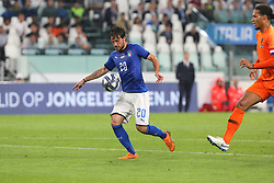 June 4, 2018 - Turin, Piedmont, Italy - Simone Verdi (Italy) in action during the friendly football match between Italy and Holland at Allianz Stadium on June 04, 2018 in Turin, Italy. Final result: 1-1  (Credit Image: © Massimiliano Ferraro/NurPhoto via ZUMA Press)