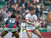 "Twickenham, Surrey United Kingdom. Canadian, Justi DOUGLES, during the Pool C match, Canada vs Japan. during the  ""2017 HSBC London Rugby Sevens"",  Saturday 20/05/2017 RFU. Twickenham Stadium, England    <br /> <br /> [Mandatory Credit Peter SPURRIER/Intersport Images]"
