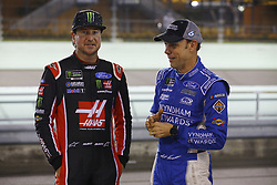 November 16, 2018 - Homestead, Florida, U.S. - Matt Kenseth (6) and Kurt Busch (41) hangs out on pit road before qualifying for the Ford 400 at Homestead-Miami Speedway in Homestead, Florida. (Credit Image: © Chris Owens Asp Inc/ASP)