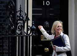 © Licensed to London News Pictures. 13/09/2016. London, UK.  Lord Chancellor and Secretary of State for Justice LIZ TRUSS MP arrives at 10 Downing Street in London for cabinet meeting on September 13, 2016. Photo credit: Ben Cawthra/LNP