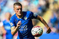 Jamie Vardy of Leicester City in action  - Mandatory byline: Jack Phillips/JMP - 07966386802 - 08/08/2015 - SPORT - FOOTBALL - Leicester - King Power Stadium - Leicester City v Sunderland - Barclays Premier League