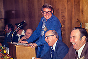 "Billy Carter speaks at a civic club meeting in Ahoskie, North Carolina. William Alton - Billy - Carter (March 29, 1937 – September 25, 1988) was an American farmer, businessman, brewer, and politician, and the younger brother of U.S. President Jimmy Carter. Carter promoted Billy Beer and was a candidate for mayor of Plains, Georgia. Carter was born in Plains, Georgia, to James Earl Carter Sr. and Lillian Gordy Carter. He was named after his paternal grandfather and great-grandfather, William Carter Sr. and William Archibald Carter Jr. respectively. He attended Emory University in Atlanta but did not complete a degree. He served four years in the United States Marine Corps, then returned to Plains to work with his brother in the family business of growing peanuts. In 1955, at the age of 18, he married Sybil Spires (b. 1939), also of Plains. They were the parents of six children: Kim, Jana, William ""Buddy"" Carter IV, Marle, Mandy, and Earl, who was 12 years old when his father died."