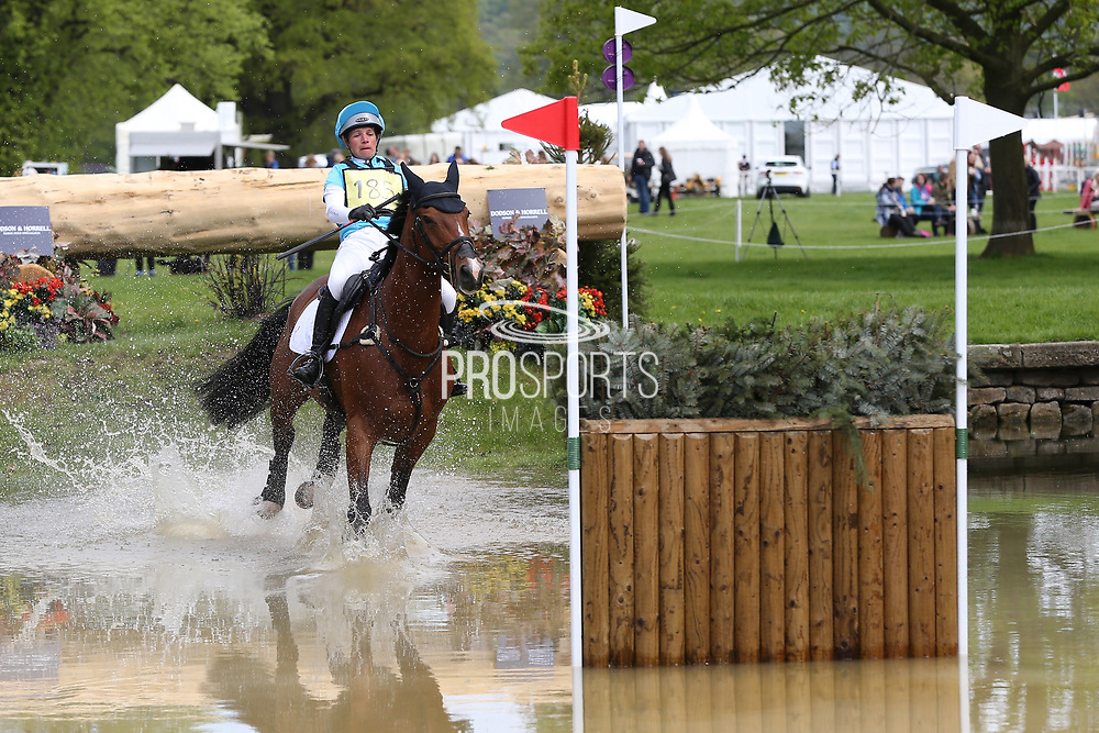 Izzy Taylor riding Direct Tullyoran Cruise during the International Horse Trials at Chatsworth, Bakewell, United Kingdom on 13 May 2018. Picture by George Franks.
