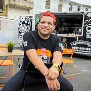 JULY 20, 2018---SAN JUAN, PUERTO RICO----<br /> Javier Sea&ntilde;ez, owner of Las Cucharas Comida Mexicana, at The Miramar Food Truck Park, by his food truck.<br /> (Photo by Angel Valentin/Freelance)