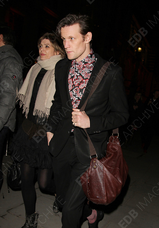 20.MARCH.2013. LONDON<br /> <br /> MATT SMITH ATTENDS DAVID BOWIE IS - PRIVATE VIEW AT THE V&amp;A MUSEUM.<br /> <br /> BYLINE: EDBIMAGEARCHIVE.CO.UK<br /> <br /> *THIS IMAGE IS STRICTLY FOR UK NEWSPAPERS AND MAGAZINES ONLY*<br /> *FOR WORLD WIDE SALES AND WEB USE PLEASE CONTACT EDBIMAGEARCHIVE - 0208 954 5968*
