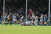 Worcester Warriors Will Spencer  Lock (5)  scores the winning try making it 25-16 second half during the Aviva Premiership match between Worcester Warriors and Bath Rugby at Sixways Stadium, Worcester, United Kingdom on 15 April 2017. Photo by Gary Learmonth.