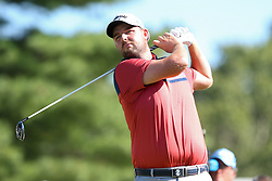 September 1, 2018 - Norton, Massachusetts, United States - Marc Leishman tees off the 10th hole during the second round of the Dell Technologies Championship. (Credit Image: © Debby Wong/ZUMA Wire)