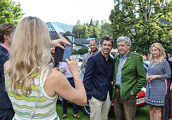 19.07.2017, Schloss Pichlarn, Aigen im Ennstal, AUT, Ennstal-Classic 2017, Welcome Evening, im Bild Schauspieler Patrick Dempsey, bekannt als McDreamy in der TV-Serie Grey's Anatomy, mit Fans // actor Patrick Dempsey and fans during the Ennstal-Classic 2017 in Pichlarn Castle, Aigen im Ennstal, Austria on 2017/07/19. EXPA Pictures © 2017, PhotoCredit: EXPA / Martin Huber