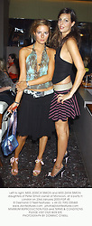 Left to right, MISS JESSICA SIMON and MISS ZARA SIMON daughters of Peter Simon owner of Monsoon, at a party in London on 23rd January 2003.PGP 45