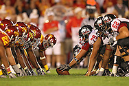 September 2 2010: Northern Illinois lines up for a field goal attempt during the first half of the NCAA football game between the Northern Illinois Huskies and the Iowa State Cyclones at Jack Trice Stadium in Ames, Iowa on Thursday September 2, 2010.