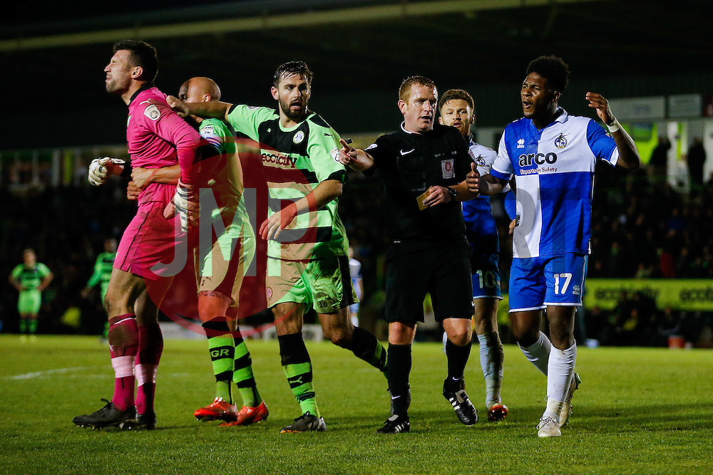 - Photo mandatory by-line: Rogan Thomson/JMP - 07966 386802 - 29/04/2015 - SPORT - FOOTBALL - Nailsworth, England - The New Lawn - Forest Green Rovers v Bristol Rovers - Vanarama Conference Premier - Playoff Semi Final 1st Leg.